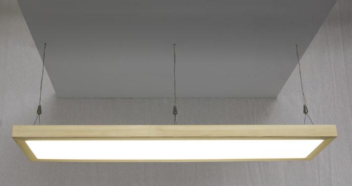 Pendelleuchte LED mit Holzrahmen Toggenburger-Holz Tanne