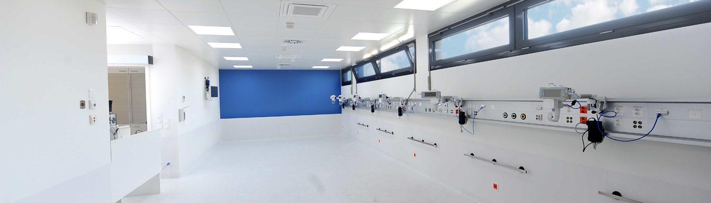 LED Umfeldbeleuchtung im Spital, Reinraum oder Büro