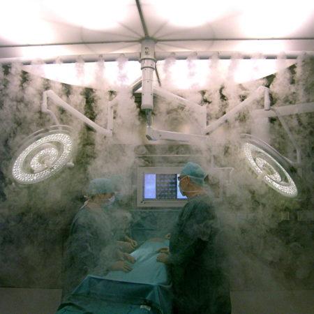 Strömungsvisualisierung Sterilluftverteiler