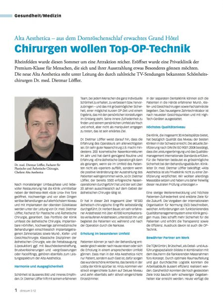 TQM Chirurgen wollen Top OP-Technik