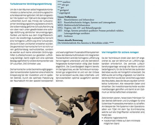 TQM Chirurgen wollen Top OP-Technik