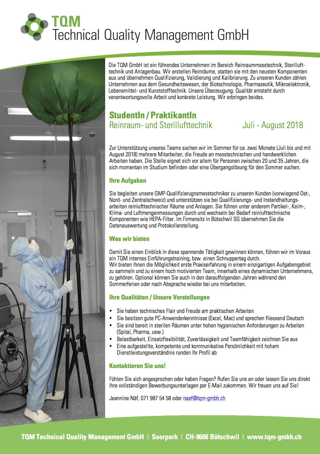 Offene Stellen TQM GmbH Studentenjob Praktikum