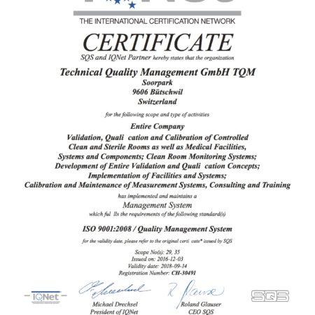 TQM SQS Zertifikat